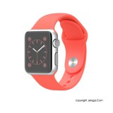 APPLE Watch Sport 38mm Silver Aluminum Case with Pink Sport Band