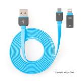 J-Save Kabel USB 2 in 1 Micro to iPhone - Biru