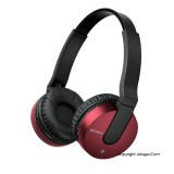 SONY Sound Monitoring Headphones MDR-ZX550BN Red
