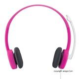 LOGITECH Stereo Headset h150 Fuchsia Pink